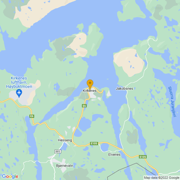 Google Map of 69.72729652398247,30.04579863154736