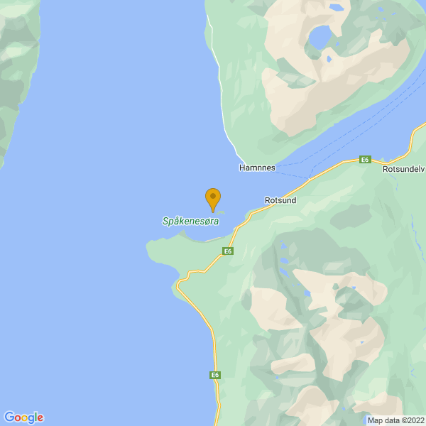 Google Map of 69.77331241971685,20.52458967609108