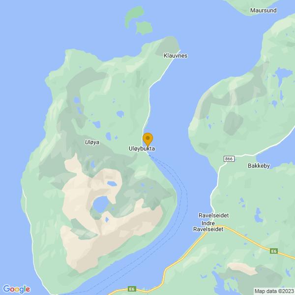 Google Map of 69.8592522,20.6934939