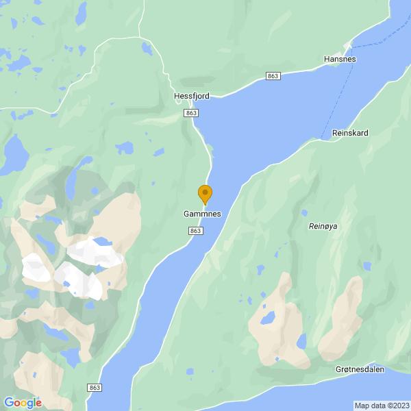 Google Map of 69.911969,19.483330499999965