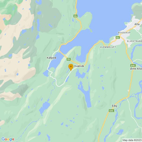 Google Map of 69.92204939999999,23.080028699999957