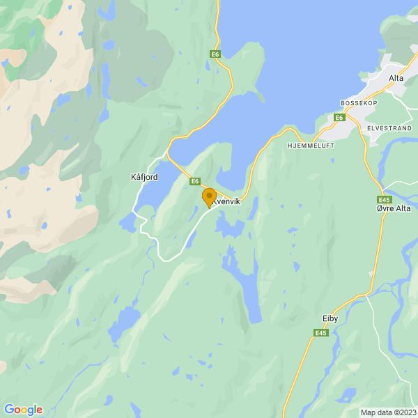 Google Map of 69.924471,23.0870998