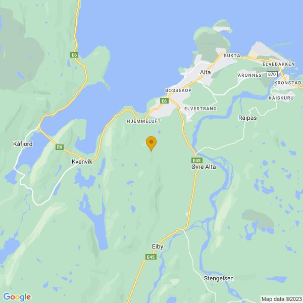 Google Map of 69.9318262,23.198078200000054