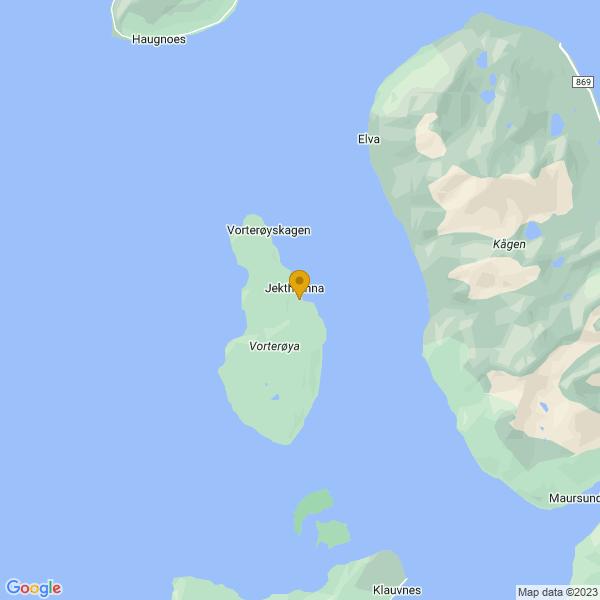 Google Map of 69.97174109542622,20.66590033917846