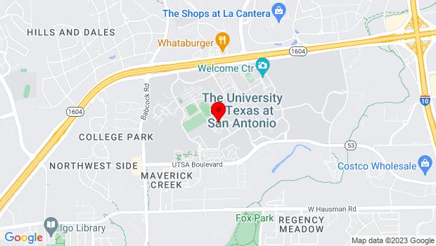 Google Map of 6900 N Loop 1604 W, San Antonio, TX 78249