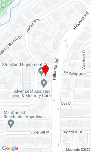 Google Map of Strickland Equipment Co. 6902 Spanky Branch Drive, Dallas, TX, 75248