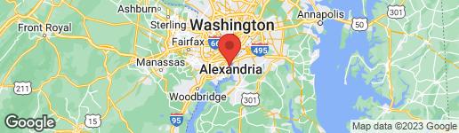 Map of 6909 ANDOVER DRIVE ALEXANDRIA, VA 22307