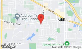 Map of 692 West Natalie Lane #692 ADDISON, IL 60101