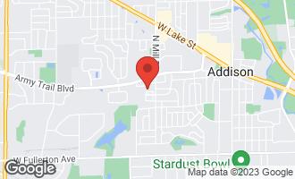 Map of 692 West Natalie Lane West #692 ADDISON, IL 60101