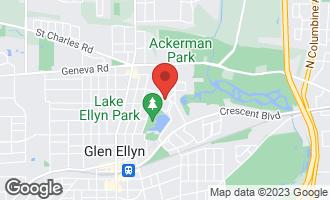 Map of 695 Oak Street GLEN ELLYN, IL 60137