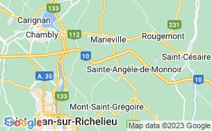 Map of Camping Les Jardins D'Eau