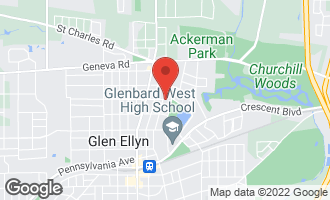 Map of 697 North Park Boulevard GLEN ELLYN, IL 60137