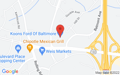 Map of Koons Ford of Baltimore