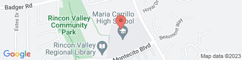Google Map of 6975 Montecito Blvd, Santa Rosa, CA 95409