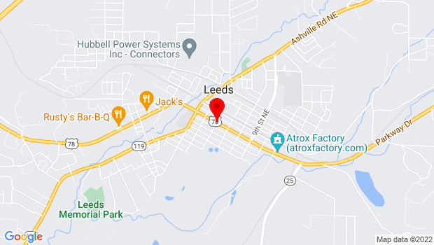 Google Map of 6th Street and Parkway Dr, Leeds, AL 35094