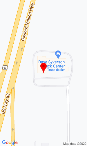 Google Map of Dave Syverson Truck Centers 7 County Road 16 SE, Rochester, MN, 55904
