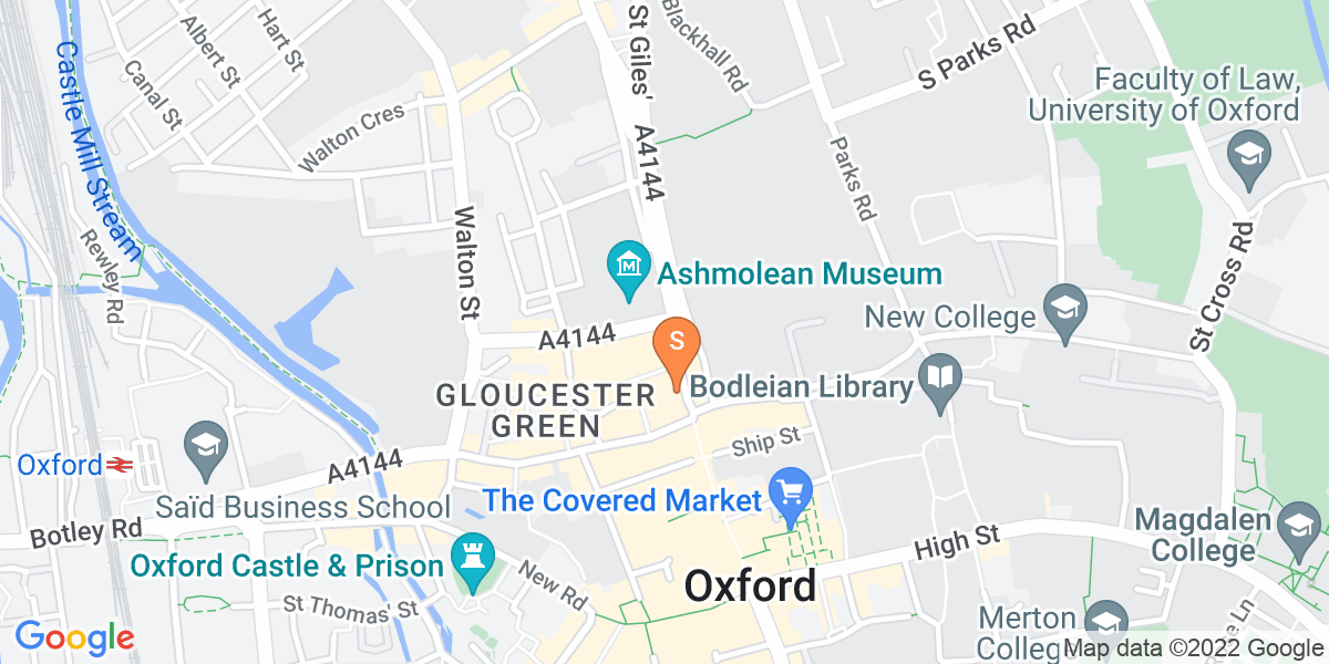 Google Map of 7 Magdalen Street Oxford OX1 3AD