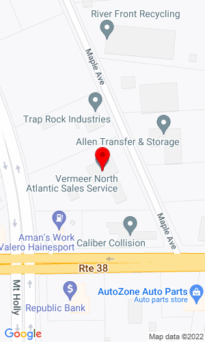 Google Map of Vermeer North Atlantic 7 Maple Avenue, Lumberton, NJ, 08048