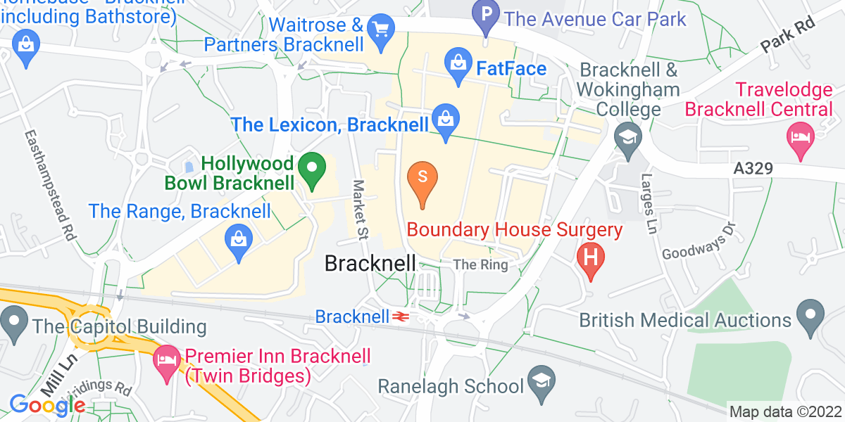 Google Map of 7 Princess Square Bracknell RG12 1LS