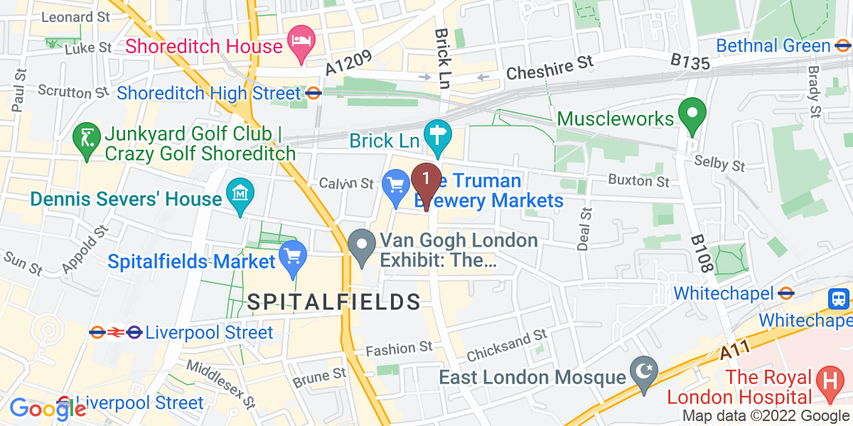 Google Map of 7 Dray Walk, Shoreditch, London, E1 6NJ