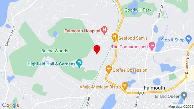 Google Map of 7 Highfield Drive, Falmouth, Ma