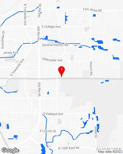 Google Map of 7 Westport Ct. Suite A Bloomington IL, 61704