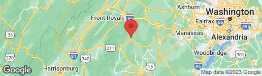 Map of 7 BRADY LANE FLINT HILL, VA 22627