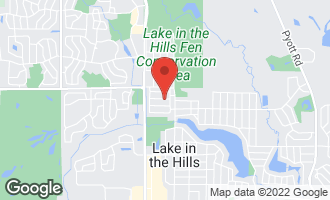 Map of 7 Grant Avenue LAKE IN THE HILLS, IL 60156