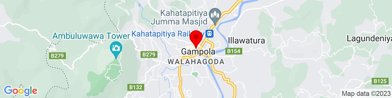 Google Map of 7.1643, 80.5696