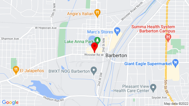 Google Map of 70 Fourth Street NW, Barberton, OH 44203