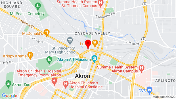 Google Map of 70 N Howard St., Akron, OH 44308