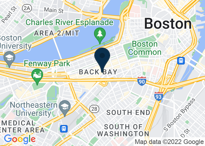 Map of 700 Boylston Street, Boston, MA 02116, United States