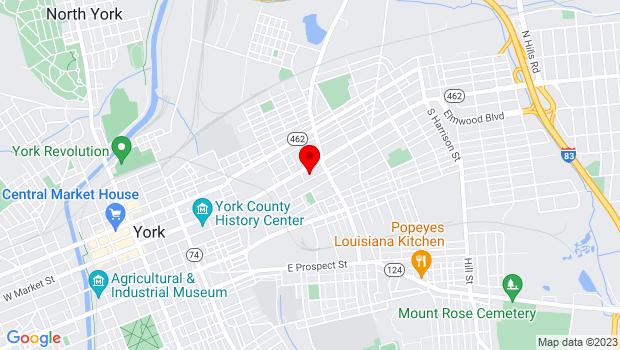 Google Map of 700 East Market , York, PA 17401
