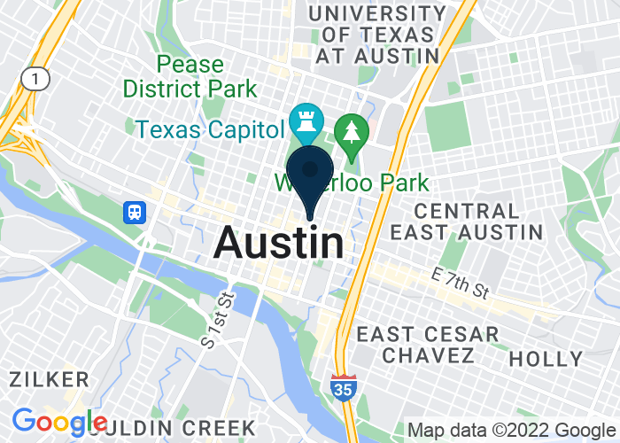 Map of 700 San Jacinto at 8th Street, Austin, TX 78701, United States