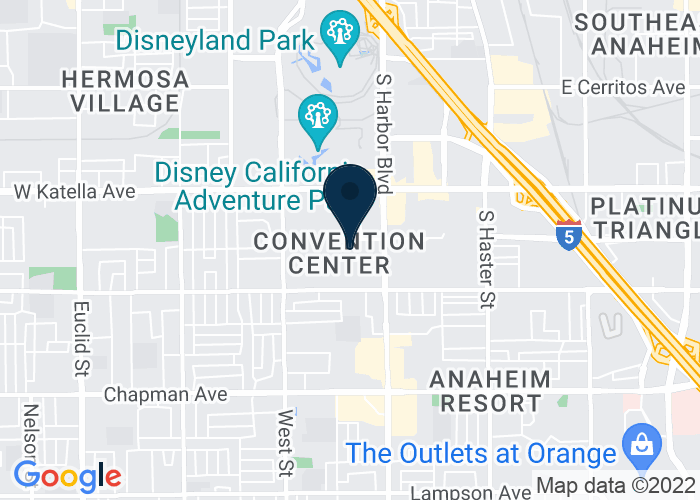 Map of 700 West Convention Way, Anaheim, CA 92802, United States