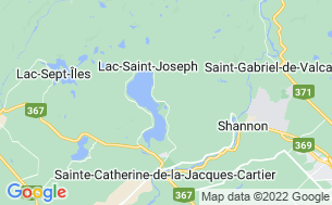 Map of Camping Plage Lac Saint-Joseph