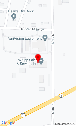 Google Map of Whipp Sales & Service, Inc 701 South Eighth Street, Clarinda, IA, 51632