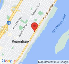 Google Map of 701+RUE+NOTRE-DAME%2CRepentigny%2CQuebec+J6A+2X1