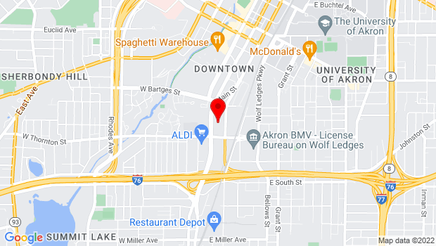 Google Map of 701 South Main Street, Akron, OH 44311