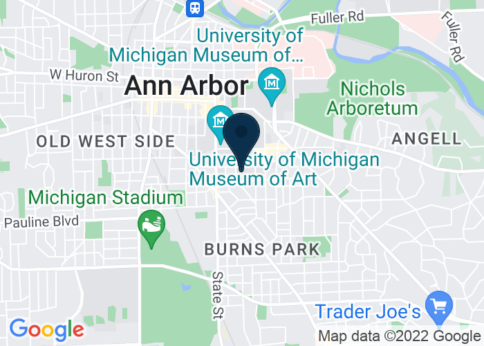 Map of 701 Tappan Avenue, Ann Arbor, MI 48109, United States