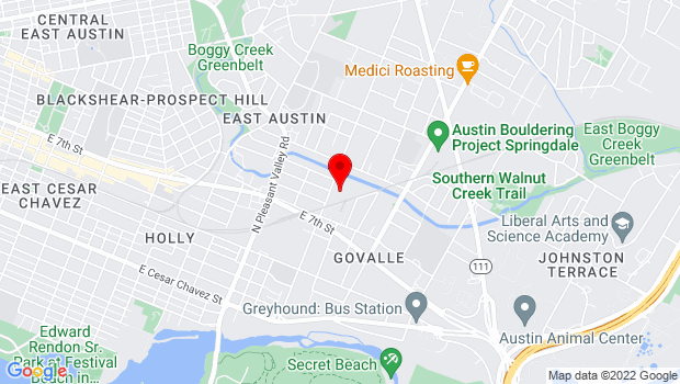 Google Map of 701 tillery street suite a-9, Austin, TX