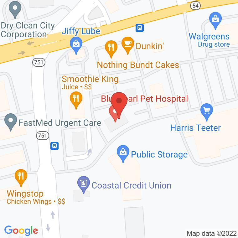 Google Map of 7015 NC Highway 751, Durham, NC, 27707
