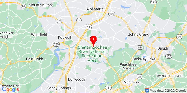 Google Map of 7029 Richwood Circle Roswell, ga 30076