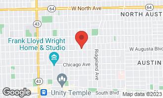 Map of 703 North East Avenue OAK PARK, IL 60302