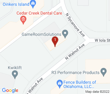 Google Map of 704 N Walnut Ave Broken Arrow, OK 74012 U.S.A.