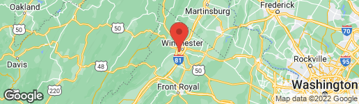 Map of 705 STERLING DRIVE WINCHESTER, VA 22601