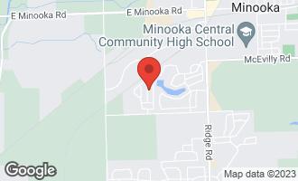 Map of 706 Clifford Drive MINOOKA, IL 60447