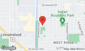 Map of 7061 North Kedzie Avenue #407 CHICAGO, IL 60645