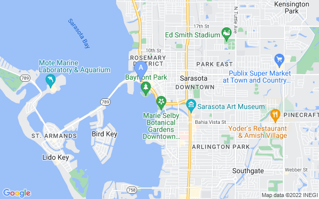 707 S Gulfstream Ave #806 Sarasota Florida 34236 locatior map