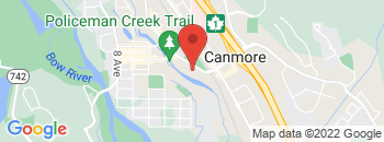 Google Map of 707+Railway+Avenue%2CCanmore%2CAlberta+T1W+1P2